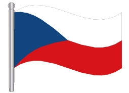 דגל צ'כיה - Czech Republic flag