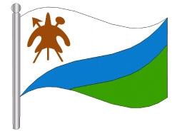 דגלון לסוטו - Lesotho flag