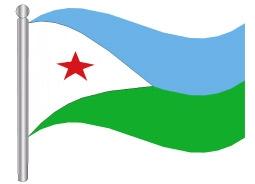 דגל ג'יבוטי - Djibouti flag