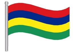 דגלון מאוריציוס - Mauritius flag