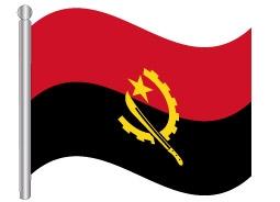 דגל אנגולה - Angola flag