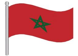 דגלון מרוקו - Morocco flag