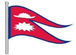 דגלון נפאל - Nepal flag