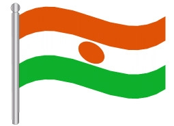 דגלון ניזר - Niger flag