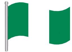 דגלון ניגריה - Nigeria flag