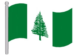דגלון איי נוםולק - Nofolk Island flag