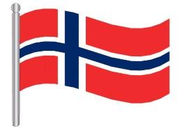 דגלון נורבגיה - Norway flag