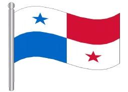 דגלון פנמה - Panama glag