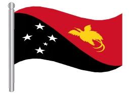 דגלון פפואה גינאה החדשה - Papua New Guinea flag