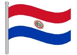 דגלון פרגוואי - Paraguay flag