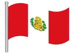 דגלון פרו - Peru flag