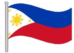 דגלון הפיליפינים - Philippines flag