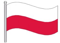 דגלון פולין - Poland flag
