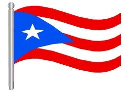 דגלון פורטו ריקו - Puerto Rico flag