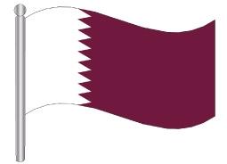 דגלון קטאר - Qatar flag