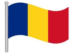 דגלון רומניה - Romania flag