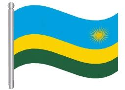 דגלון רואנדה-Rwanad flag