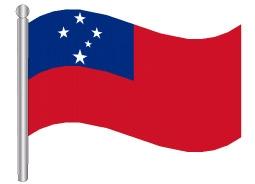 דגלון סמואה - Samoa flag