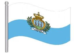 דגלון סן מרינו - San Marino flag