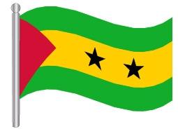 דגלון סאו טומה ופרינסיפה - Sao Tome and Principe flag