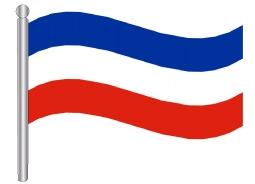 דגלון סרביה ומונטנגרו - Serbia and Montenegro flag