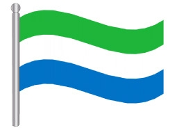 דגלון סיירה לאונה - Sierra Leone flag
