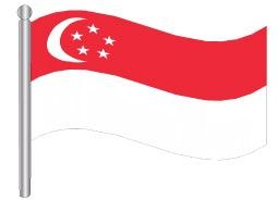 דגלון סינגפור - Singapore flag