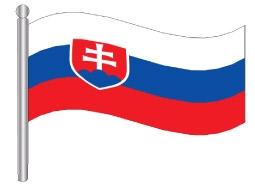 דגלון סלובקיה - Slovakia flag