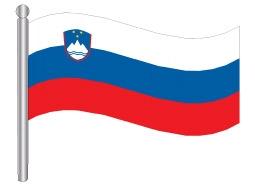 דגלון סלובניה - Slovenia flag