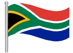 דגלון דרום אפריקה - South Africa flag
