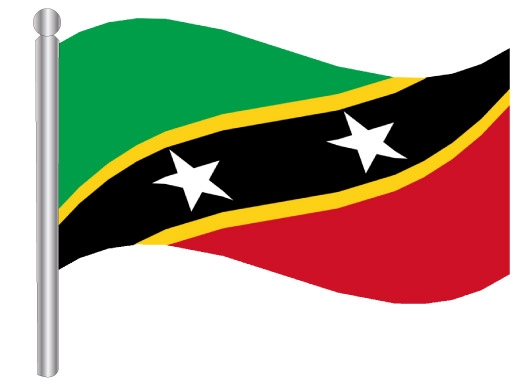 דגלון סנט קיטב ונוויס - St Kitts and Nevis flag