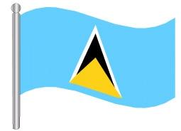 דגלון סנט לוסיה - St Lucia flag