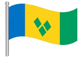 דגלון סנט וינסנט והגרנדינים - St Vincent ant the Grenadines flag