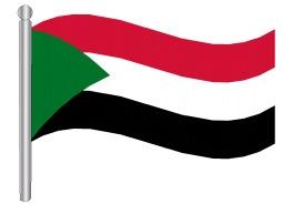 דגלון סודן - Sudan flag