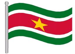 דגלון סורינאם - Suriname flag