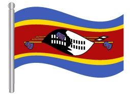 דגלון סווזילנד - Swaziland flag
