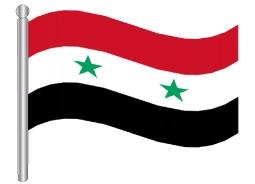 דגלון סוריה - Syria flag
