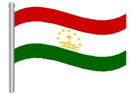 דגלון טגיקיסטאן - Tajikistan flag