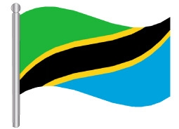 דגלון טנזניה - Tanzania flag