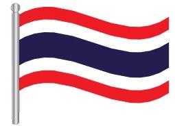 דגלון תאילנד - Tahiland flag