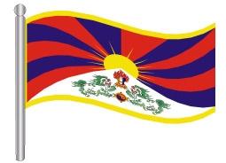 דגלון טיבט - Tibet flag