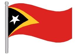 דגלון טימור-לאסטה - Timor-Leste flag