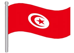 דגלון טוניסיה - Tunisia flag