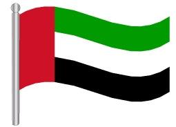 דגלון איחוד האמירויות הערביות - the United Arab Emirates (UAE) flag