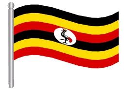 דגלון אוגנדה - Uganda flag