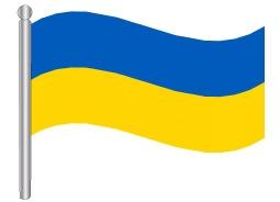 דגלון אוקראינה - Ukraine flag