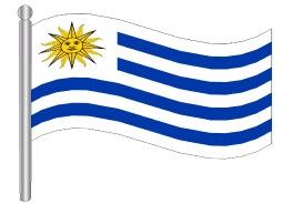 דגלון אורוגוואי - Uruguay flag