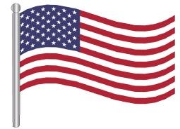 דגלון ארצות הברית - United States (USA) flag