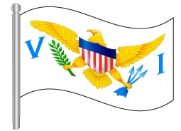 דגלון אי הבתולה - US Virgin Islands flag