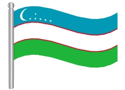 דגלון אוזבקיסטאן - Uzbekistan flag